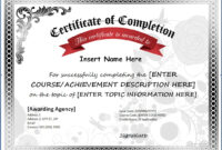 Different Kinds Of Certificate Of Completion Template #35 regarding Certificate Of Completion Template Free Printable