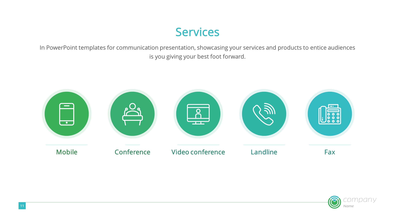 Digital Communication Premium Powerpoint Template - Slidestore with regard to Powerpoint Templates For Communication Presentation