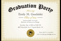 Diploma Graduation Invitation Printable, Editable College throughout College Graduation Certificate Template