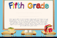 Diploma Template For Fifth Grade Students Throughout 5Th regarding 5Th Grade Graduation Certificate Template