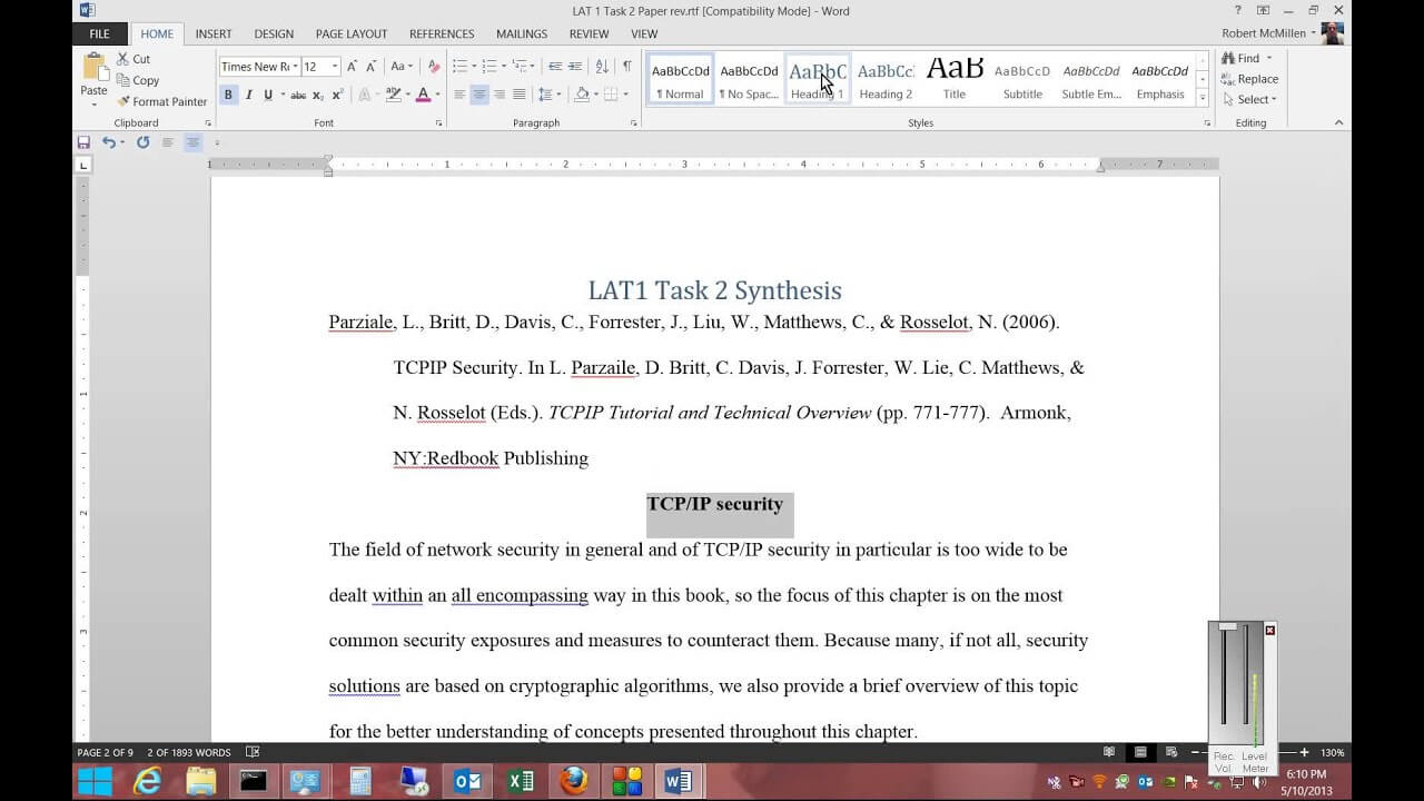 Dissertation Template Word How To Create An Automatic Table with Ms Word Thesis Template