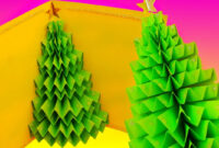 Diy 3D Christmas Tree Pop-Up Card – Greeting Card in 3D Christmas Tree Card Template