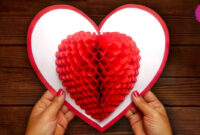 Diy 3D Heart ❤️ Pop Up Card | Valentine Pop Up Card intended for 3D Heart Pop Up Card Template Pdf