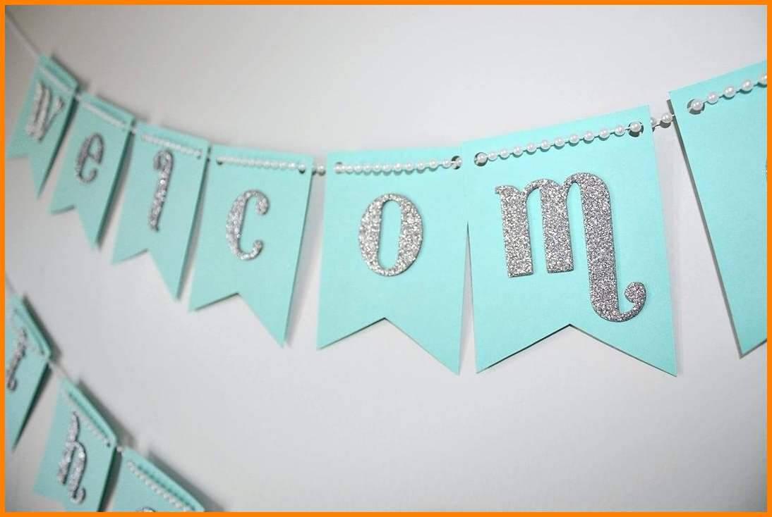 Diy Baby Shower Banner Architecture Excellent Idea Inside Diy Baby Shower Banner Template