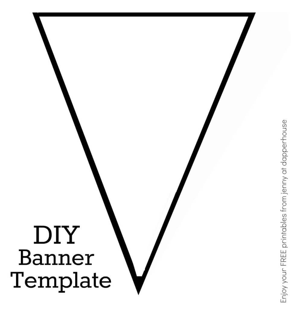 Diy Banner Template Free Printable From Jenny At Dapperhouse regarding Printable Banners Templates Free