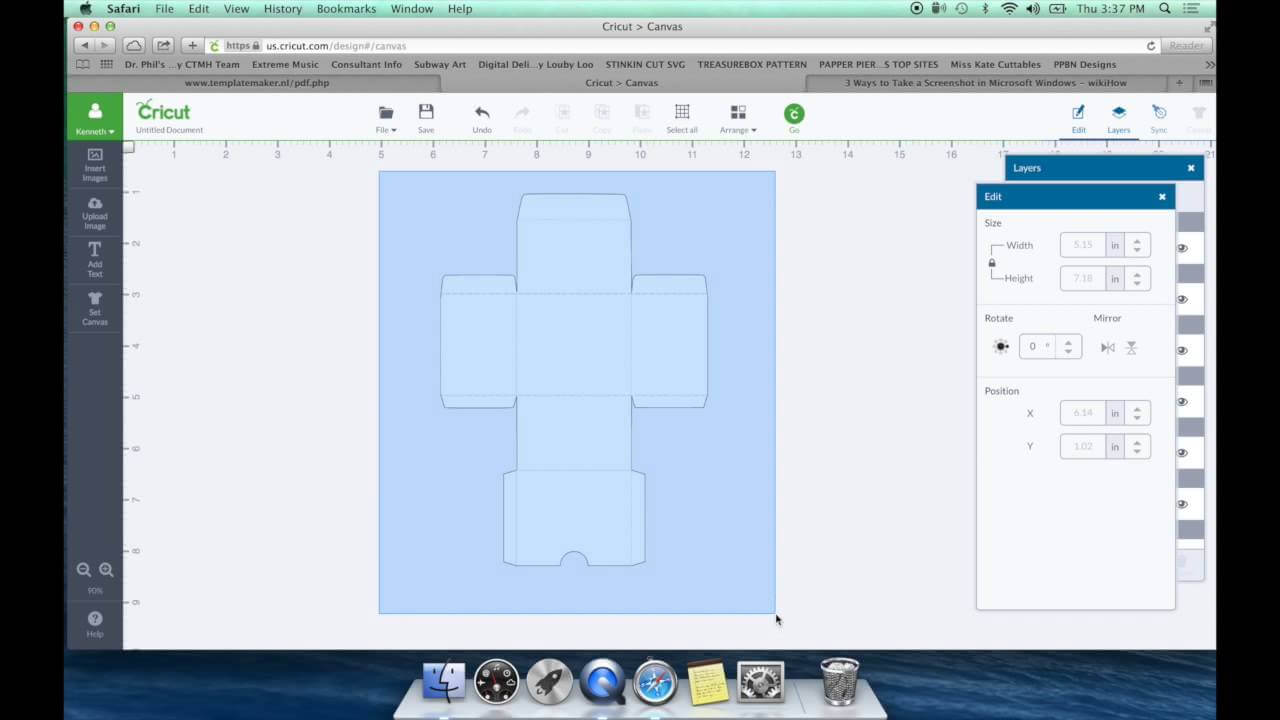 Diy Box Template For Cricut Design Space for Card Box Template Generator