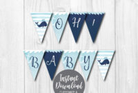 Diy Editable Yourself, Printable Banner Template, Baby Shower Banner  Printable, Baby Shower Banner Girl, Baby Shower Banner Boy, Pdf File pertaining to Diy Baby Shower Banner Template