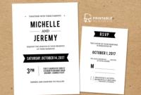 Diy Free Pdf Printable Wedding Invitation And Rsvp | Wedding intended for Free Printable Wedding Rsvp Card Templates