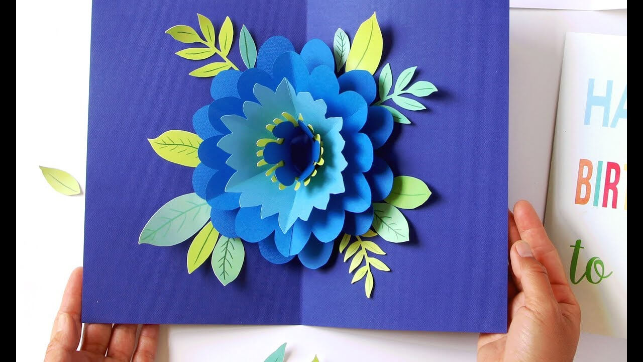 Diy Happy Mother's Day Card Pop Up Flower (Free Templates!) with regard to Diy Pop Up Cards Templates