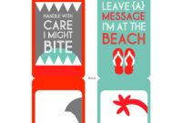 Diy Printable Beach Luggage Tags | Diy Bag Tags, Funny inside Luggage Tag Template Word