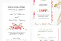 Diy Wedding Invitation Template, Printable Wedding Invitations With Rsvp  And Details Card, Instant Download Pdf Template #fpk-06S for Church Wedding Invitation Card Template