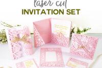 "Diy Wedding Invitation Templates – Free ""laser Cut"" Set pertaining to Free Svg Card Templates"