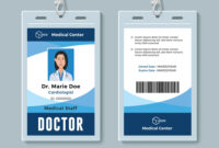 Doctor Id Badge Medical Identity Card Design with regard to Doctor Id Card Template