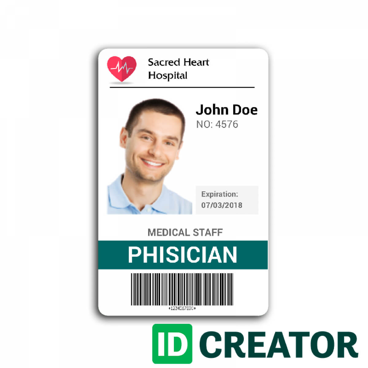 Doctor Id Card #2 | Id Card Template, Identity Card Design For Doctor Id Card Template