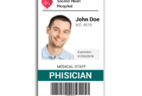 Doctor Id Card #2 | Wit Research | Id Card Template within Work Id Card Template