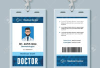 Doctor Id Card. Medical Identity Badge Design Template within Doctor Id Card Template
