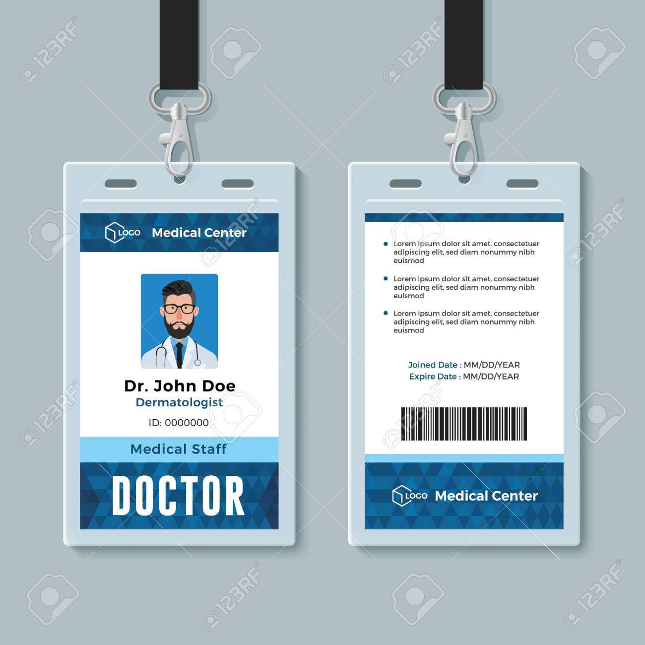 Doctor Id Card. Medical Identity Badge Design Template within Doctor Id Card Template