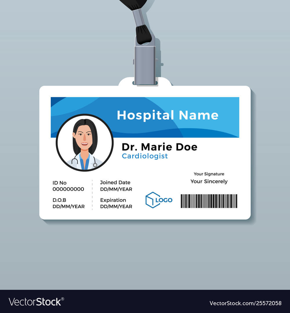 Doctor Id Card Medical Identity Badge Template intended for Doctor Id Card Template