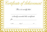 Docx Achievement Certificates Templates Free Certificate with regard to Certificate Of Accomplishment Template Free