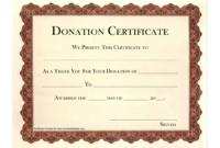 Donation Certificate Template | Certificate Templates in Present Certificate Templates