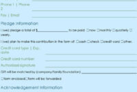 Donation Form Template | Excel & Word Templates with regard to Donation Cards Template