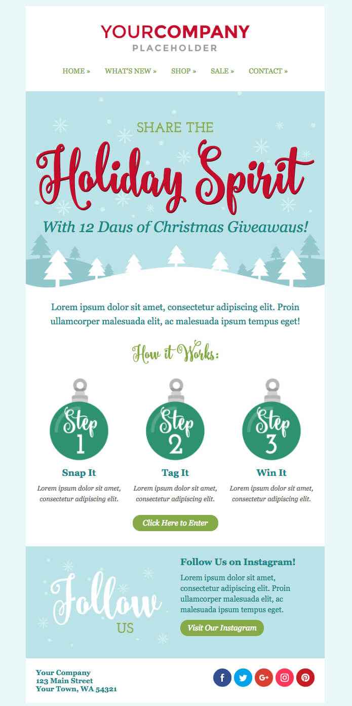Don't Miss Out On The New Holiday Email Templates   Sendinblue regarding Holiday Card Email Template