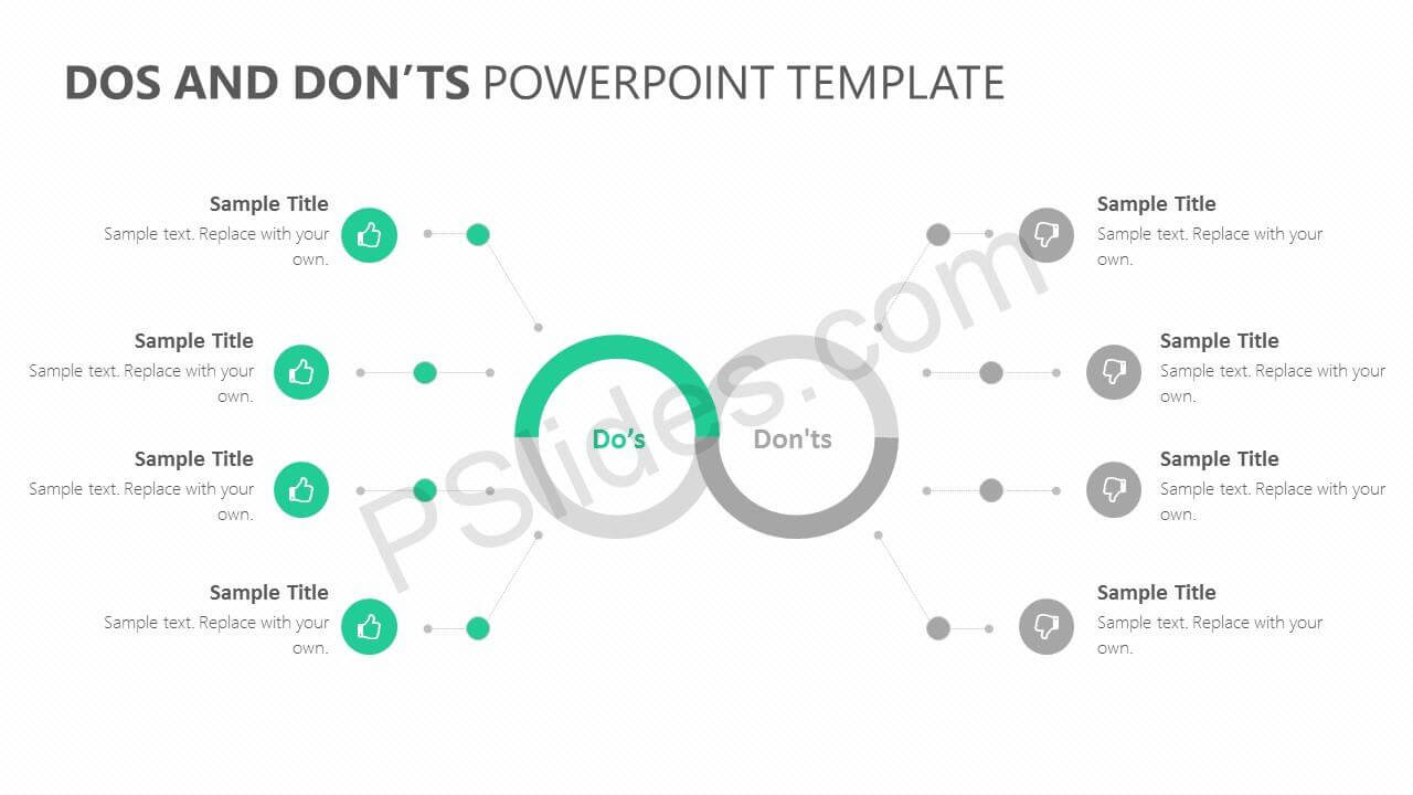 Dos And Don'ts Powerpoint Template - Pslides for Powerpoint Replace Template