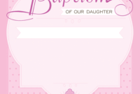 Dotted Pink – Baptism & Christening Invitation Template for Christening Banner Template Free