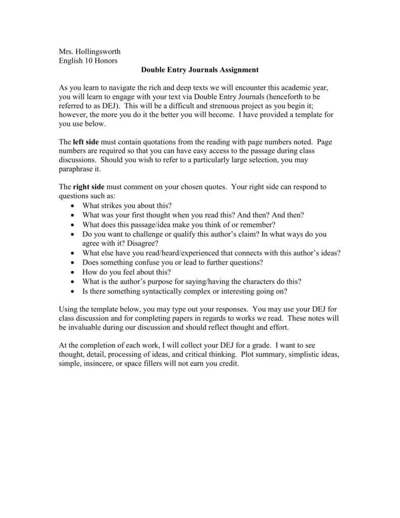 Double Entry Journal Template pertaining to Double Entry Journal Template For Word