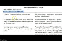 Double Entry Journals – Youtube regarding Double Entry Journal Template For Word