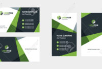 Double-Sided Creative Business Card Template. Portrait And Landscape.. inside Landscaping Business Card Template