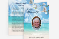Dove Funeral Card in Memorial Card Template Word