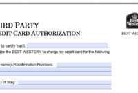 Download Best Western Credit Card Authorization Form intended for Hotel Credit Card Authorization Form Template