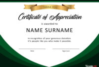 Download Certificate Of Appreciation For Donation 02 in Gratitude Certificate Template