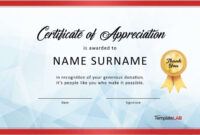 Download Certificate Of Appreciation For Donation 03 inside Thanks Certificate Template