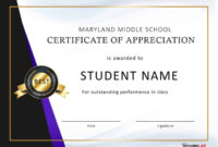 Download Certificate Of Appreciation For Students 02 with regard to Free Student Certificate Templates
