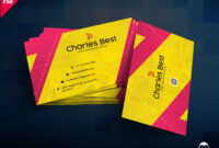 Download] Creative Business Card Free Psd | Psddaddy inside Business Card Size Photoshop Template