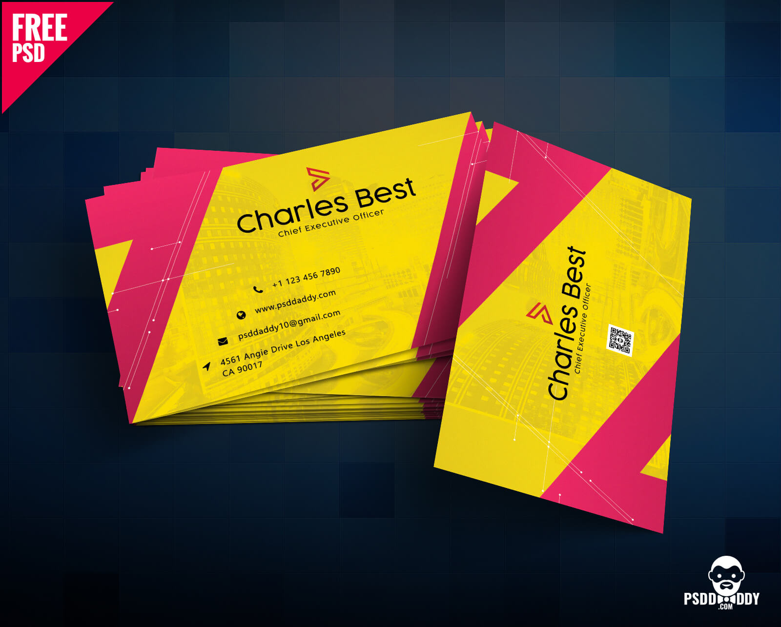 Download] Creative Business Card Free Psd | Psddaddy Inside Name Card Photoshop Template