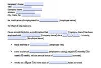 Download Employment Verification Letter Template With Sample throughout Employment Verification Letter Template Word