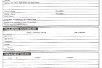 Download Free Blank Resume Forms Pdf | Biodata Format intended for Free Bio Template Fill In Blank
