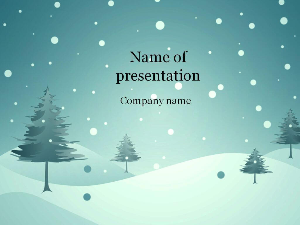 Download Free Blue Winter Powerpoint Template For in Snow Powerpoint Template