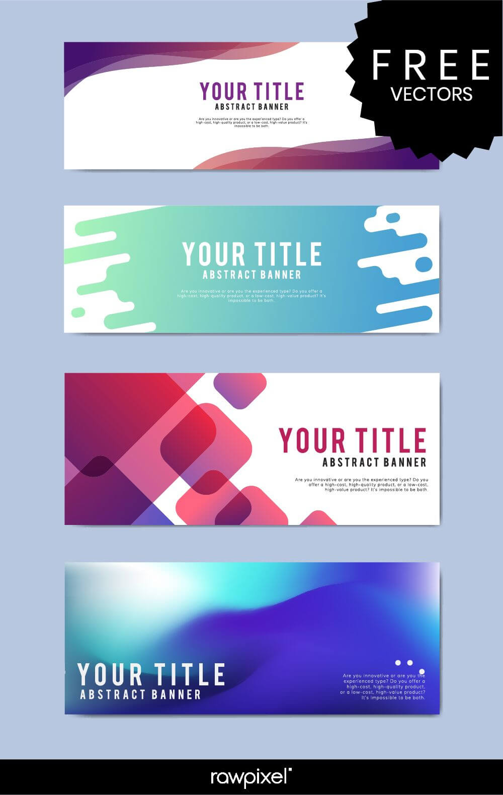 Download Free Modern Business Banner Templates At Rawpixel With Regard To Free Website Banner Templates Download