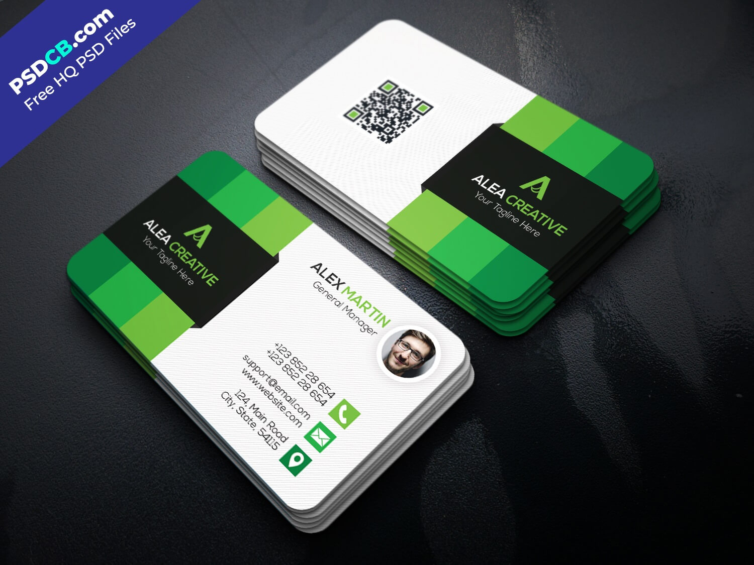 Download Free Modern Business Card Template Psd Set – Psdcb With Visiting Card Template Psd Free Download