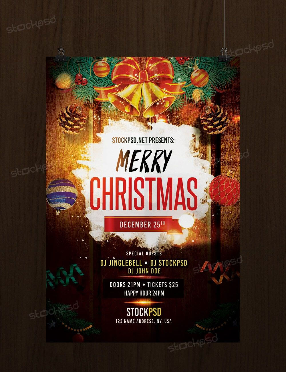 Download Merry Christmas – Free Psd Flyer Template | Free throughout Christmas Brochure Templates Free