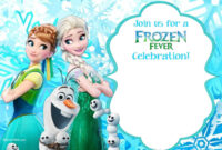 Download Now Free Printable Frozen Invitation Templates In in Frozen Birthday Card Template