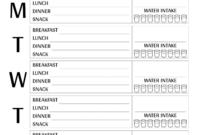Download Printable Weekly Meal Plan Template Pdf regarding Blank Meal Plan Template