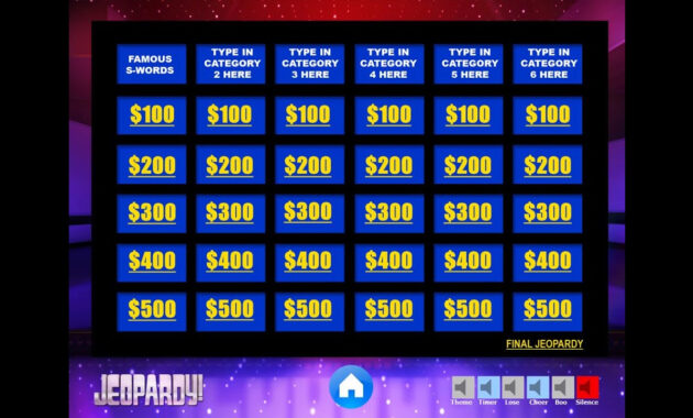 Download The Best Free Jeopardy Powerpoint Template - How To Make And Edit  Tutorial throughout Jeopardy Powerpoint Template With Sound