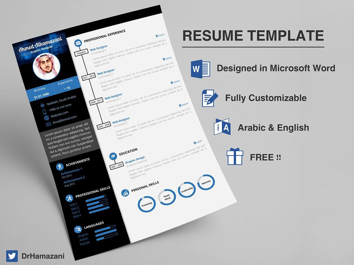 Download The Unlimited Word Resume Template (Free) On Inside Resume Templates Word 2013