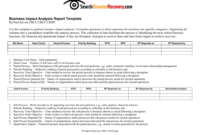 Downloadable Business Impact Analysis Template intended for Business Analyst Report Template
