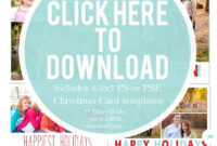 Downloadable Christmas Card Templates For Photos    Free pertaining to Christmas Photo Card Templates Photoshop